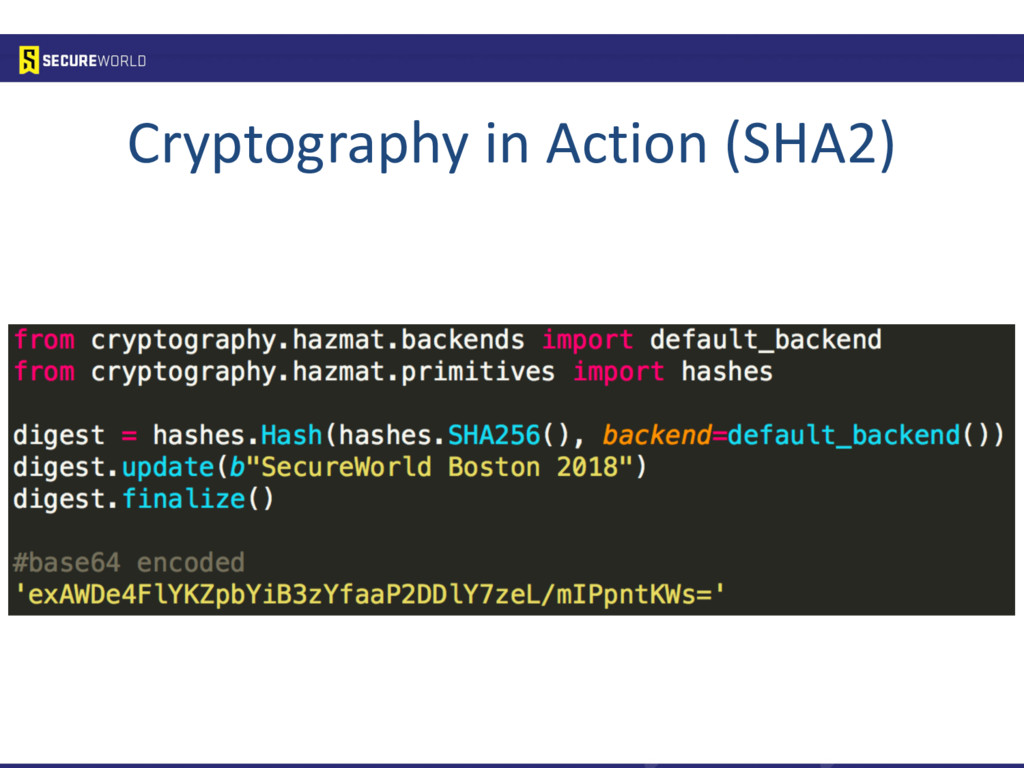 Cryptography in Action (SHA2)