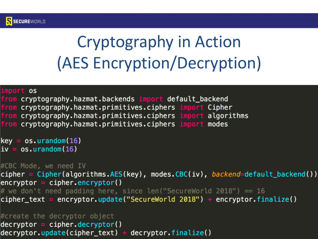 Cryptography in Action (AES Encryption/Decrypti...