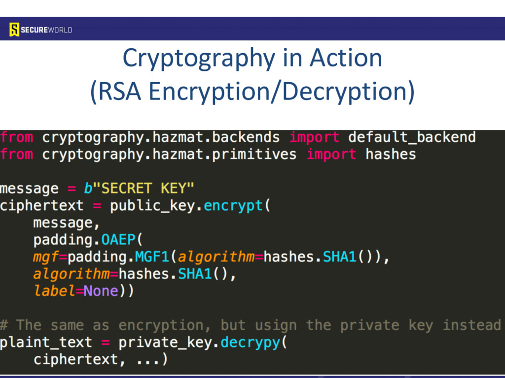 Cryptography in Action (RSA Encryption/Decrypti...