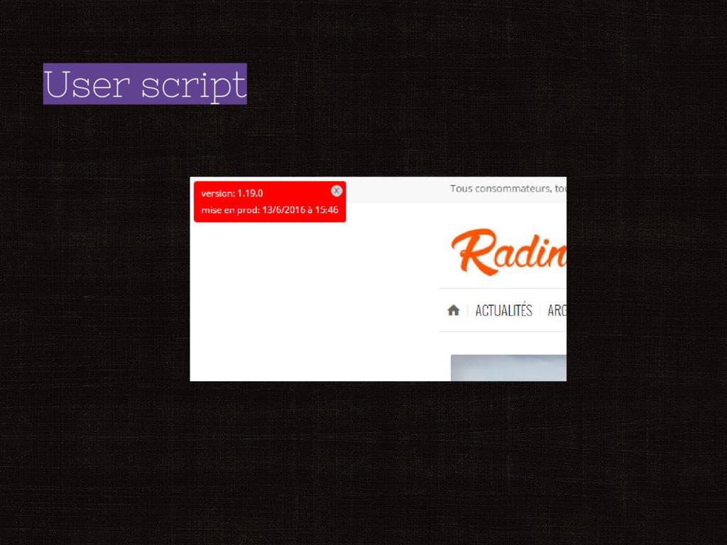 User script