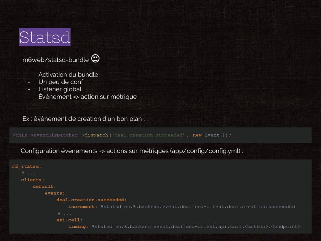 Statsd m6web/statsd-bundle - Activation du bund...