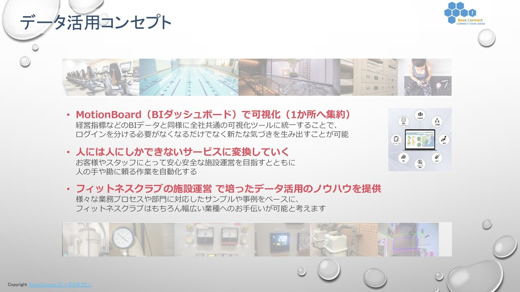 Copyright BeesConnect(ビーズコネクト) . • MotionBoard(...
