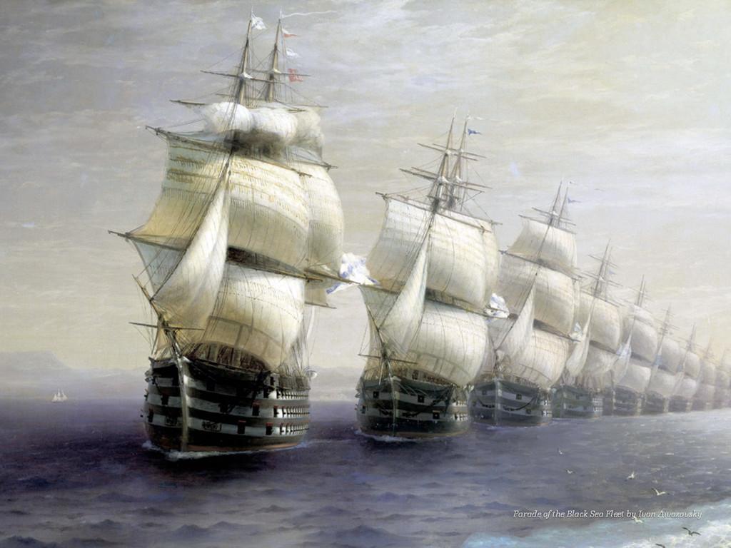 Parade of the Black Sea Fleet by Ivan Aivazovsky