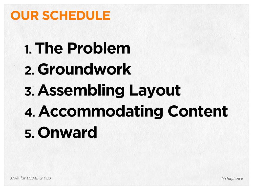 @shayhowe Modular HTML & CSS 1. The Problem 2. ...