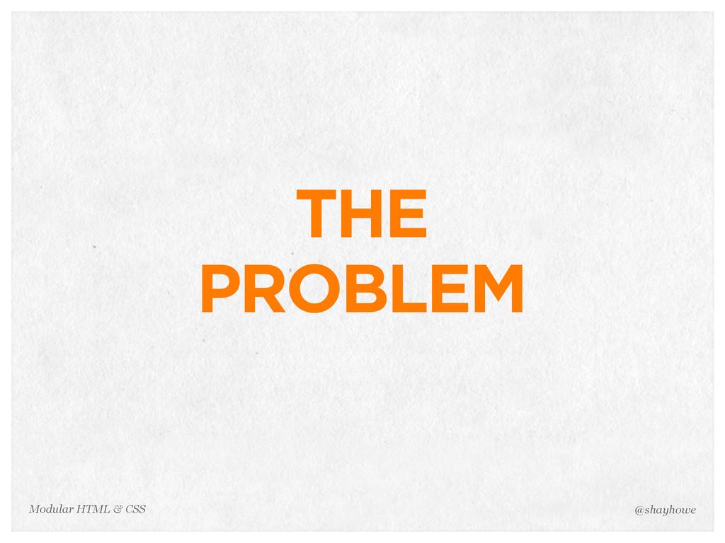 @shayhowe Modular HTML & CSS THE PROBLEM