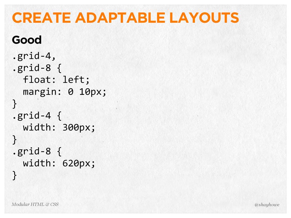 @shayhowe Modular HTML & CSS CREATE ADAPTABLE L...