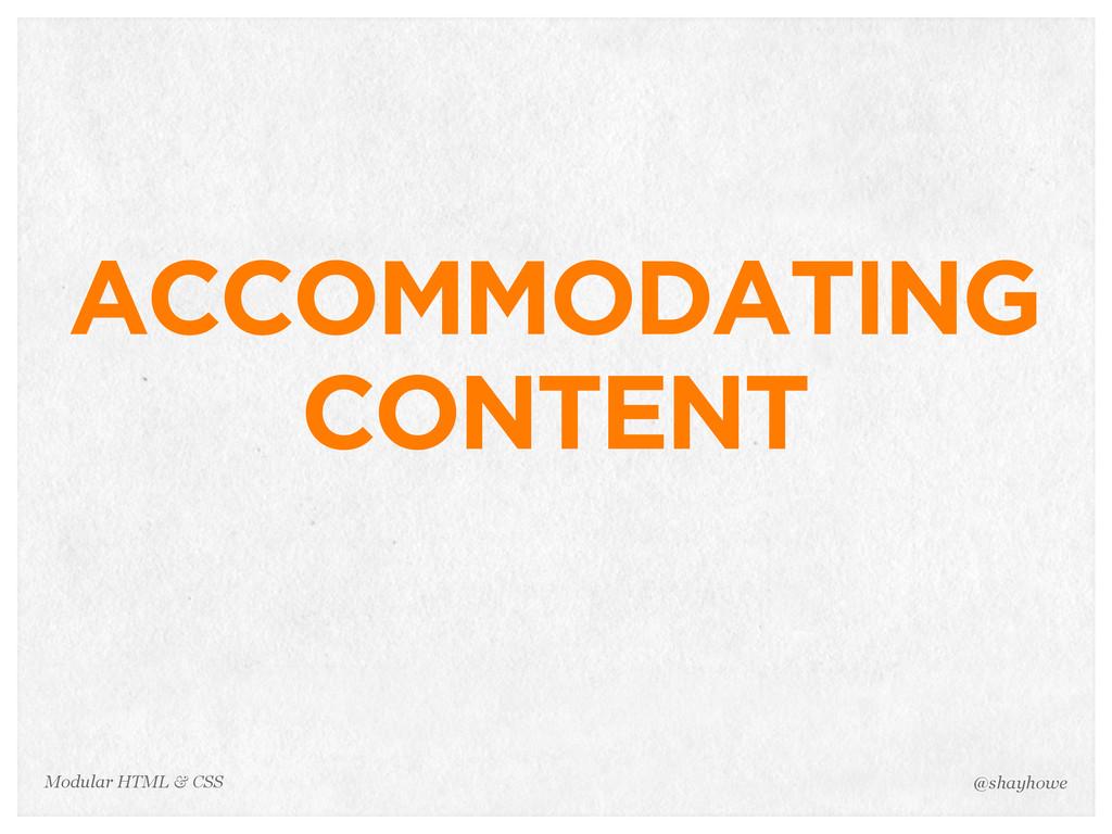 @shayhowe Modular HTML & CSS ACCOMMODATING CONT...