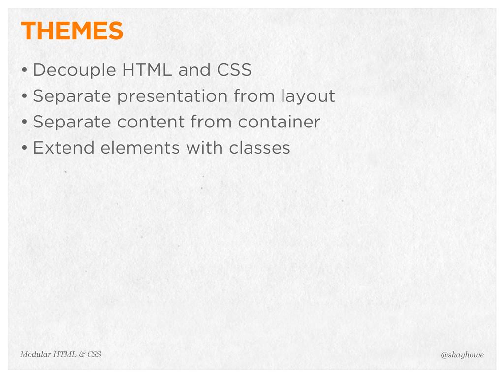 @shayhowe Modular HTML & CSS THEMES • Decouple ...