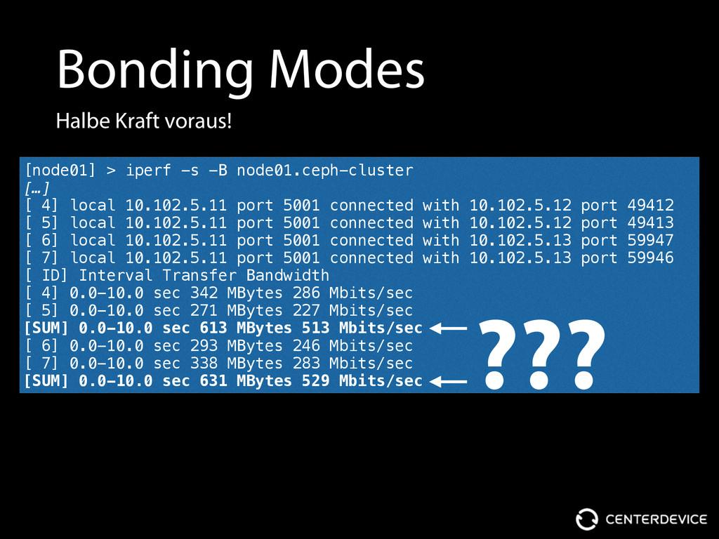 Bonding Modes Halbe Kraft voraus! [node01] > ip...