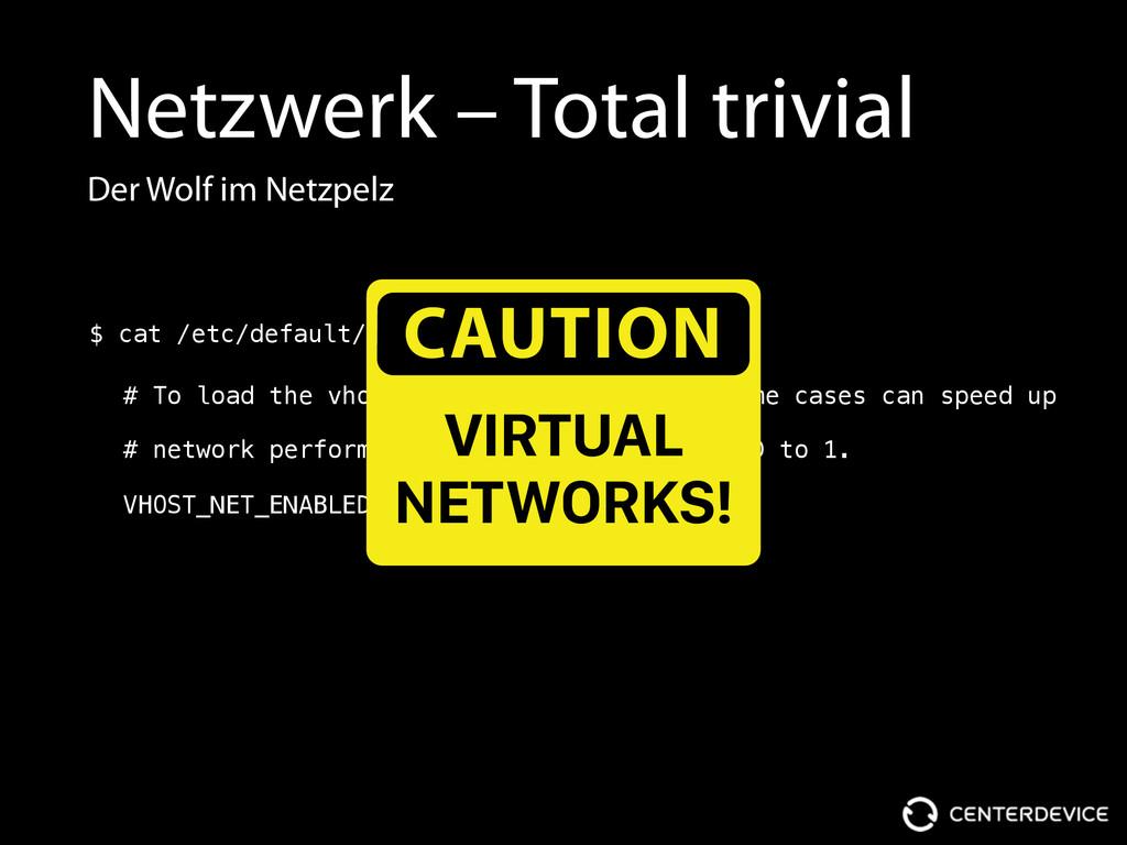 Netzwerk – Total trivial Der Wolf im Netzpelz #...