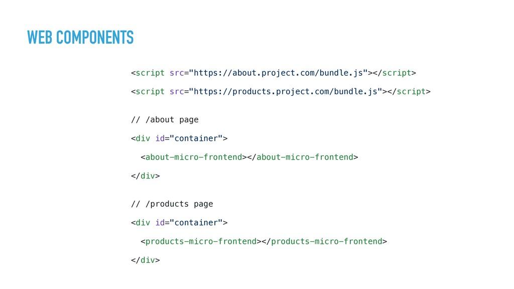 """WEB COMPONENTS <script src=""""https://about.proje..."""