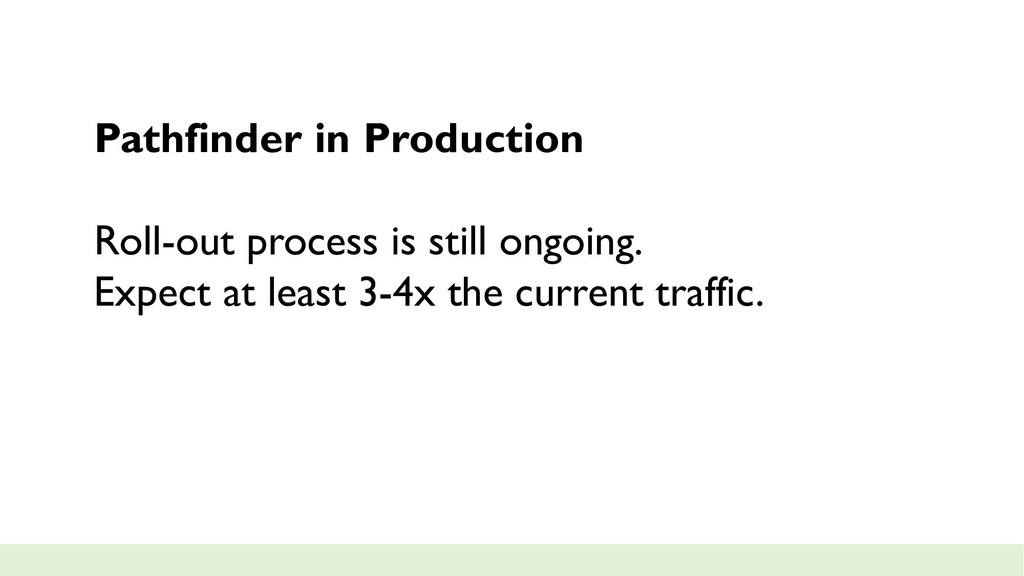 Pathfinder in Production Roll-out process is st...