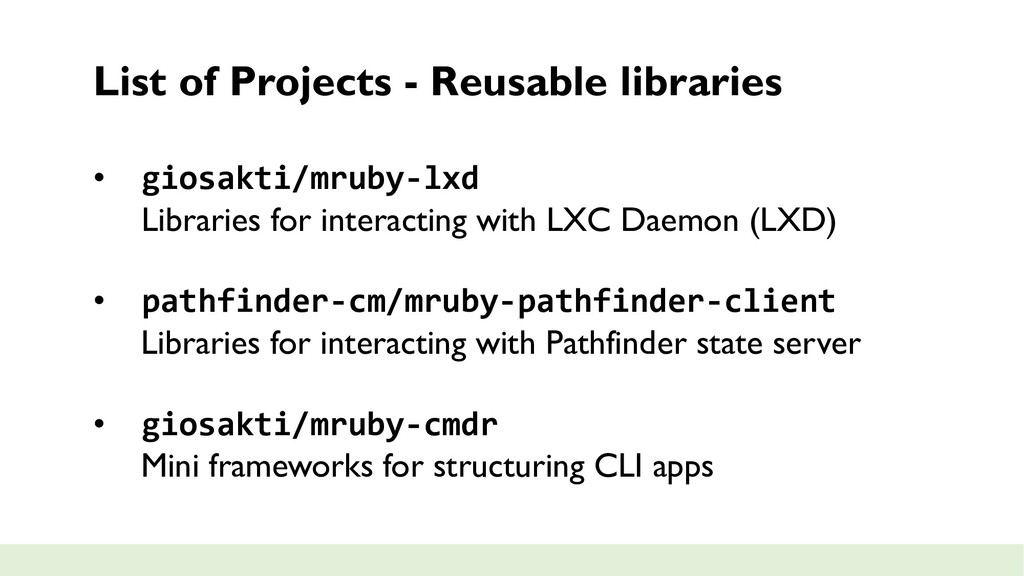 List of Projects - Reusable libraries • giosakt...