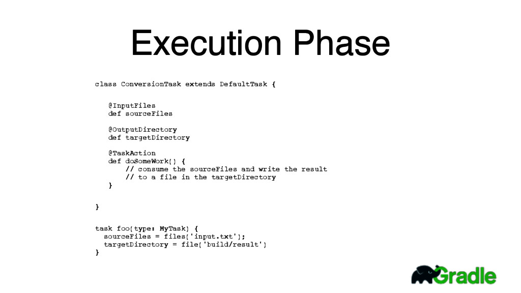 Execution Phase class ConversionTask extends De...