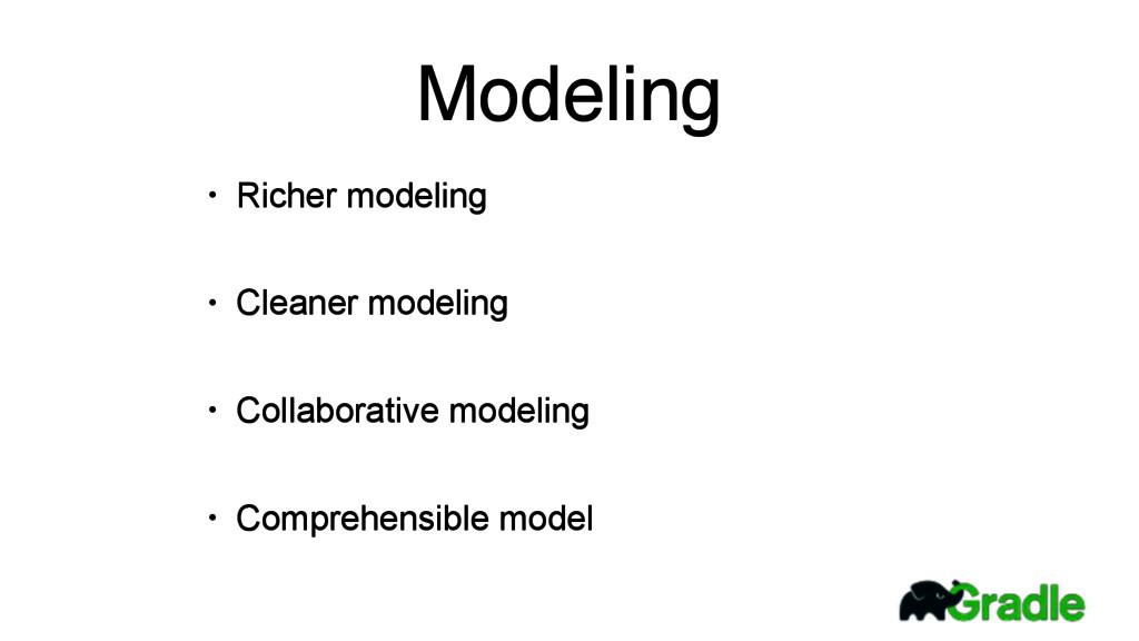• Richer modeling • Cleaner modeling • Collabor...