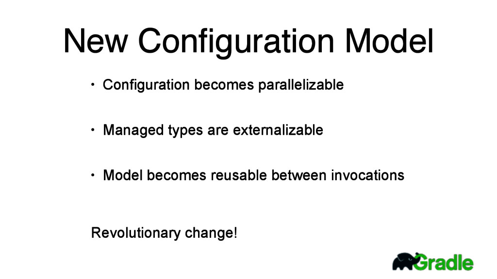 New Configuration Model • Configuration becomes ...