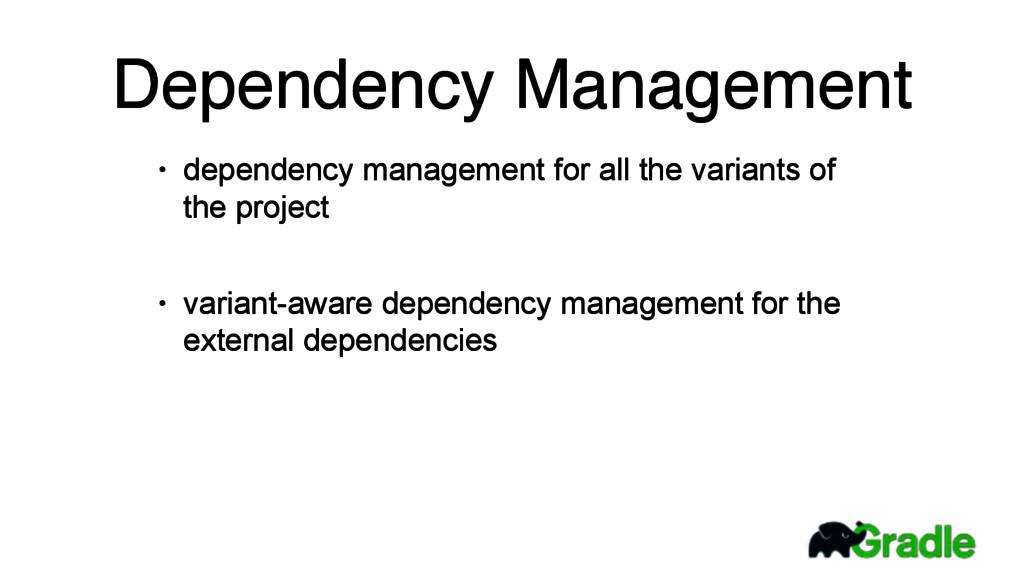 Dependency Management • dependency management f...