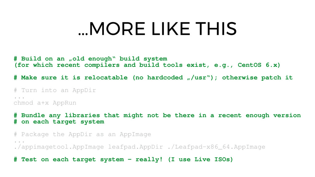 """…MORE LIKE THIS # Build on an """"old enough"""" buil..."""