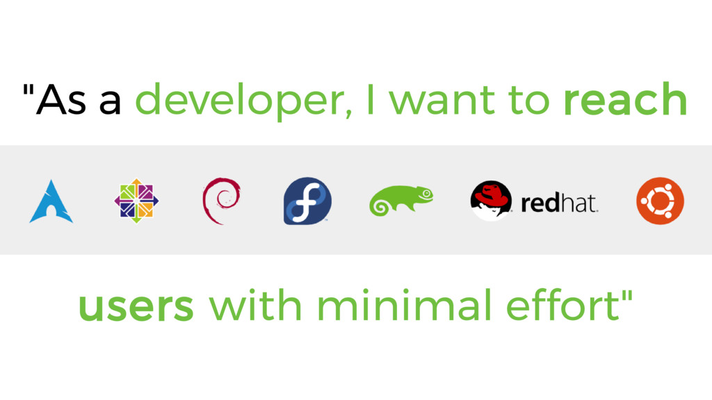 """""""As a developer, I want to reach users with min..."""
