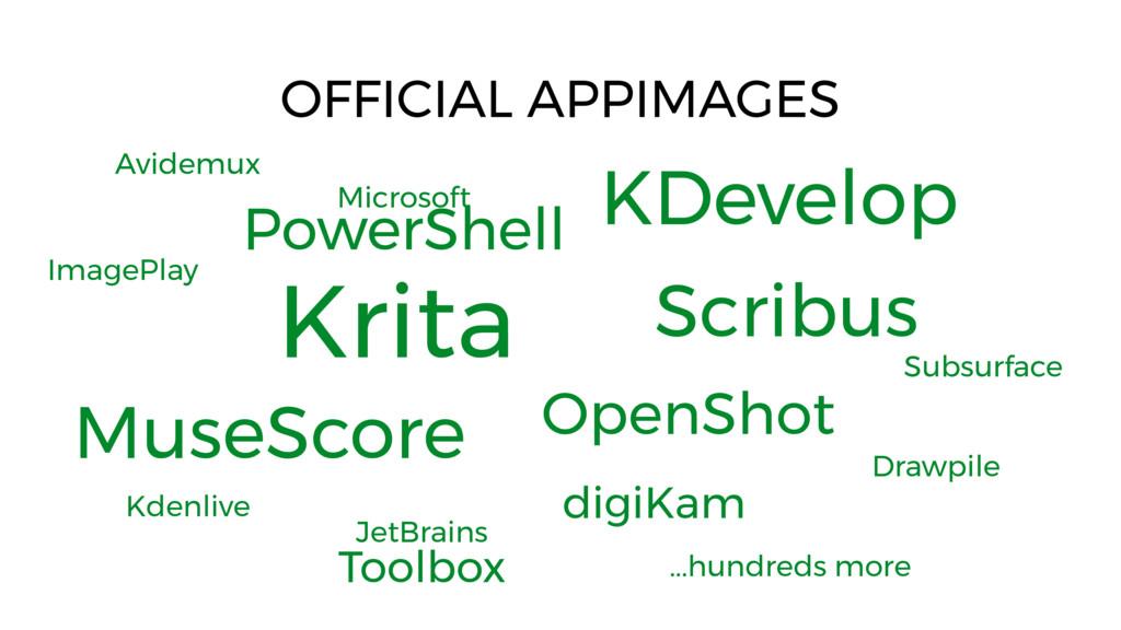 Krita OFFICIAL APPIMAGES Microsoft PowerShell K...