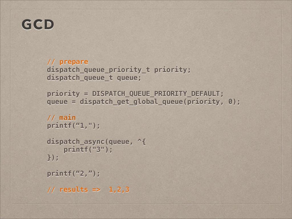 GCD // prepare dispatch_queue_priority_t priori...