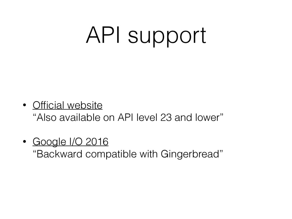 """API support • Official website """"Also available ..."""