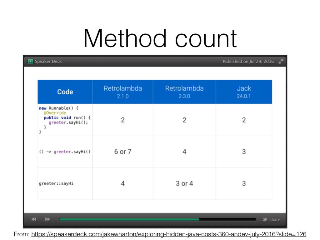 Method count From: https://speakerdeck.com/jake...