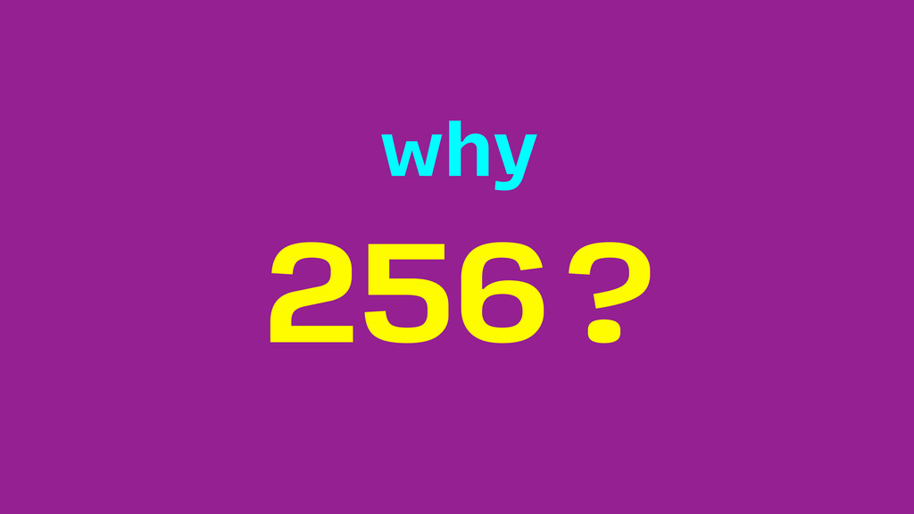 256? why