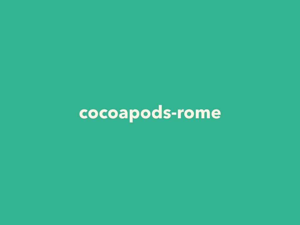 cocoapods-rome