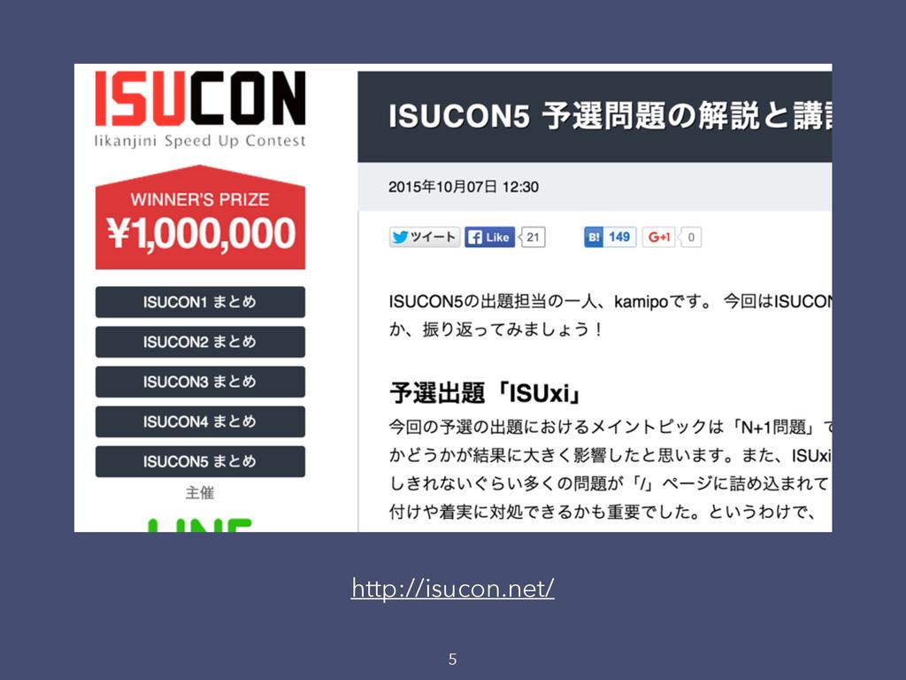 5 http://isucon.net/
