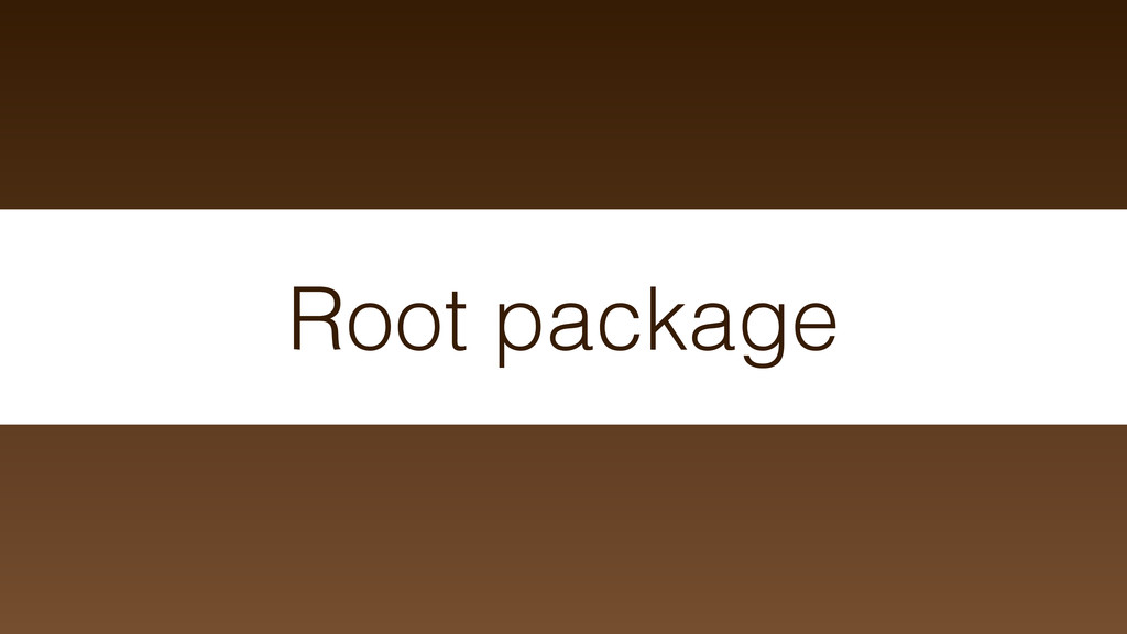 Root package