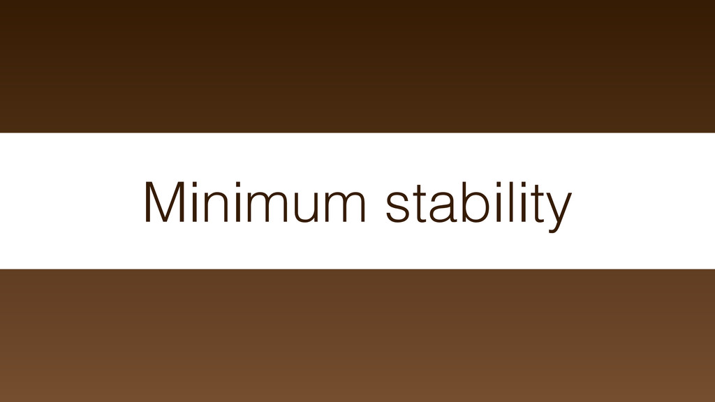 Minimum stability