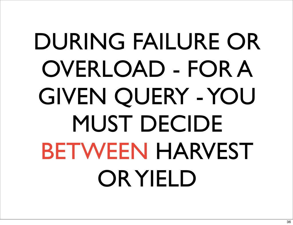 DURING FAILURE OR OVERLOAD - FOR A GIVEN QUERY ...