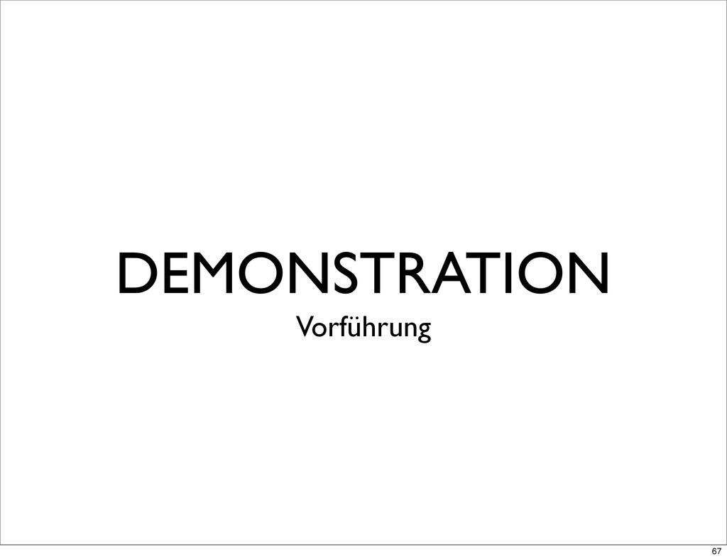 DEMONSTRATION Vorführung 67