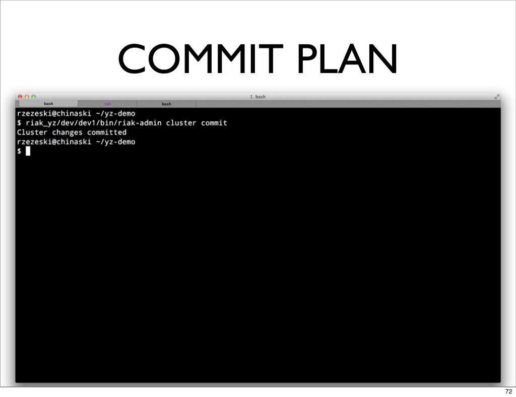 COMMIT PLAN 72