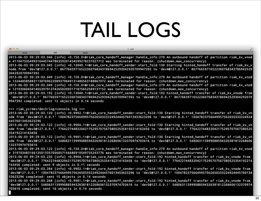 TAIL LOGS 93