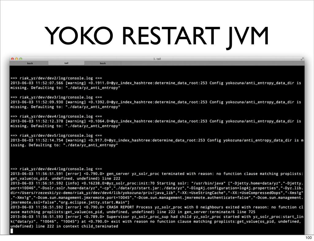 YOKO RESTART JVM 100