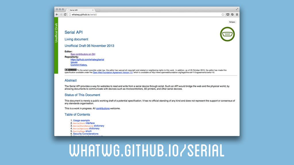 whatwg.github.io/serial