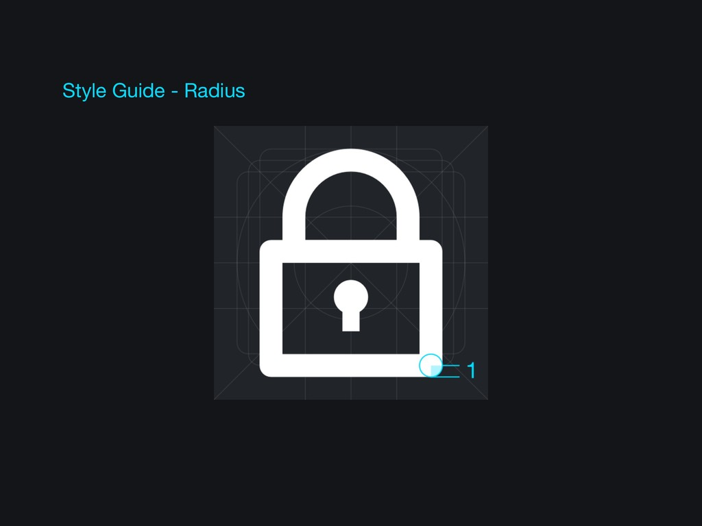 Style Guide - Radius