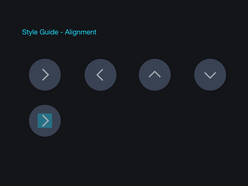 Style Guide - Alignment
