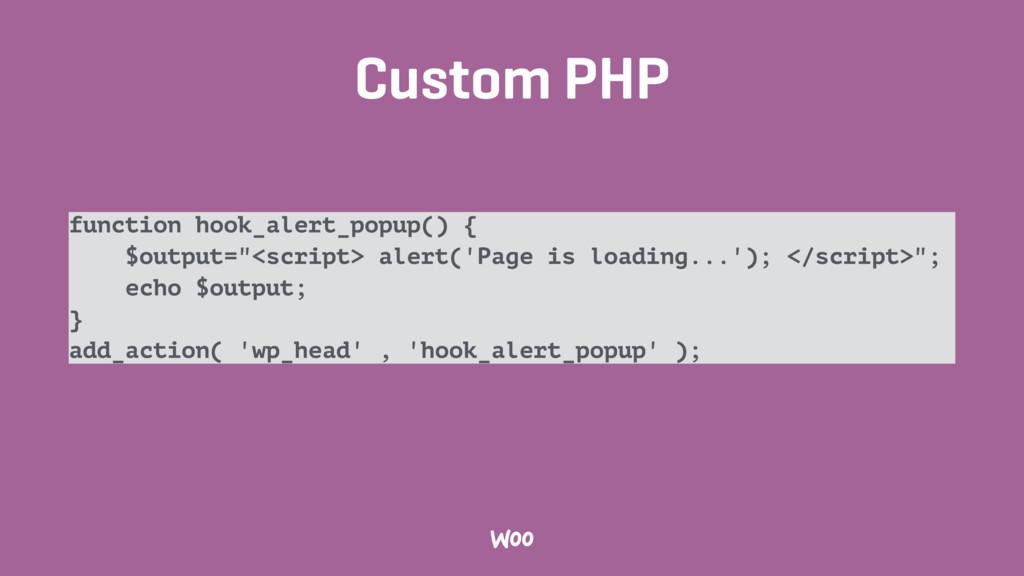 Custom PHP function hook_alert_popup() { $outpu...
