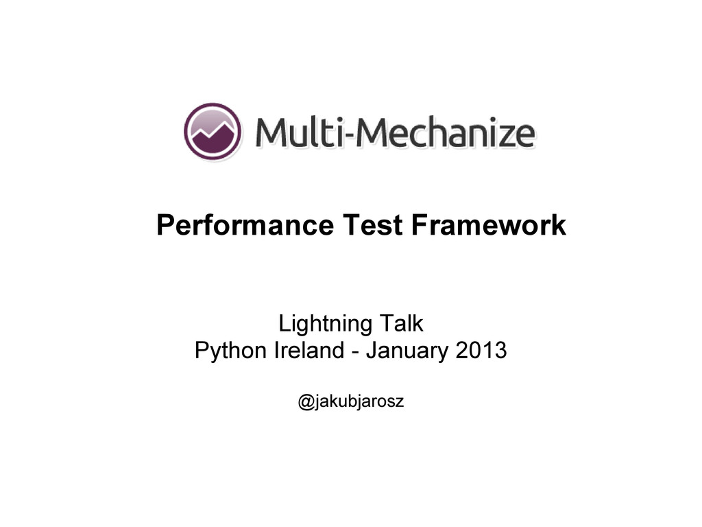 Lightning Talk Python Ireland - January 2013 @j...