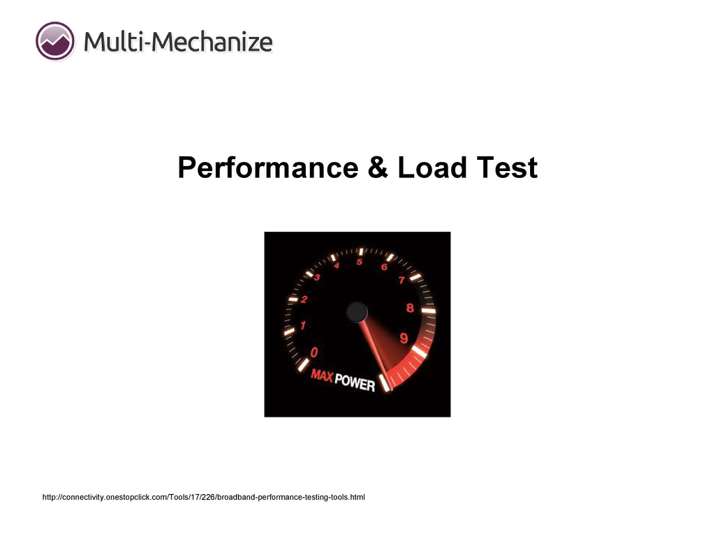 Performance & Load Test http://connectivity.one...