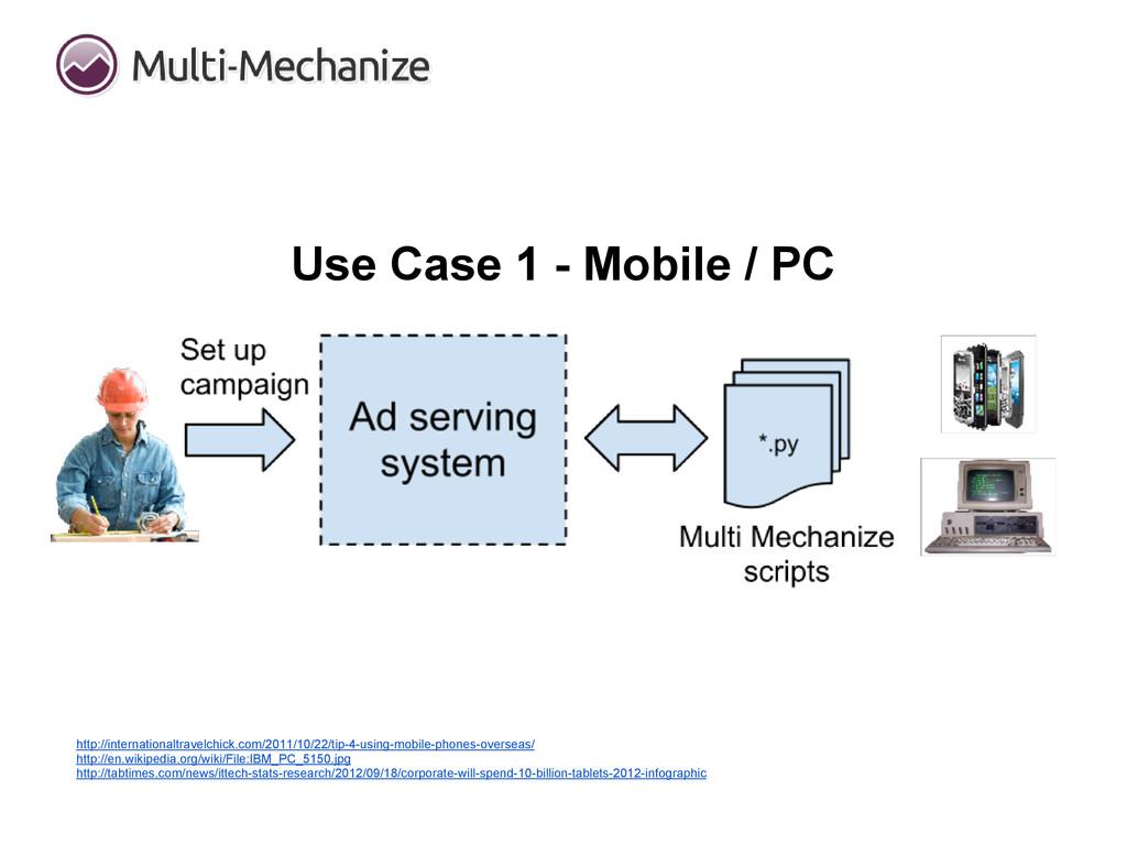 Use Case 1 - Mobile / PC http://internationaltr...