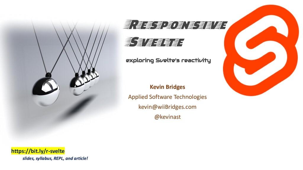Kevin Bridges Applied Software Technologies kev...