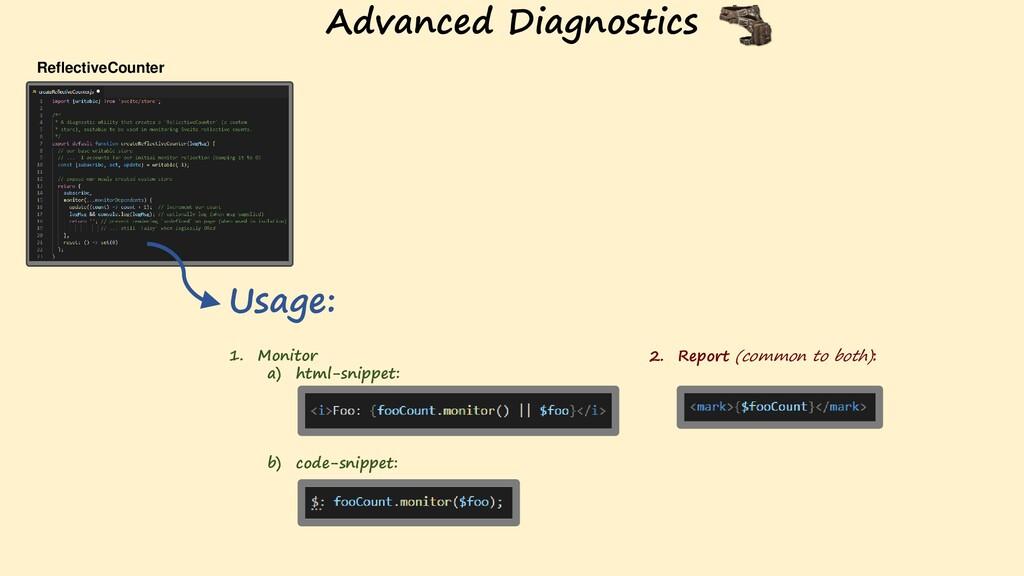 ReflectiveCounter Usage: 1. Monitor a) html-sni...