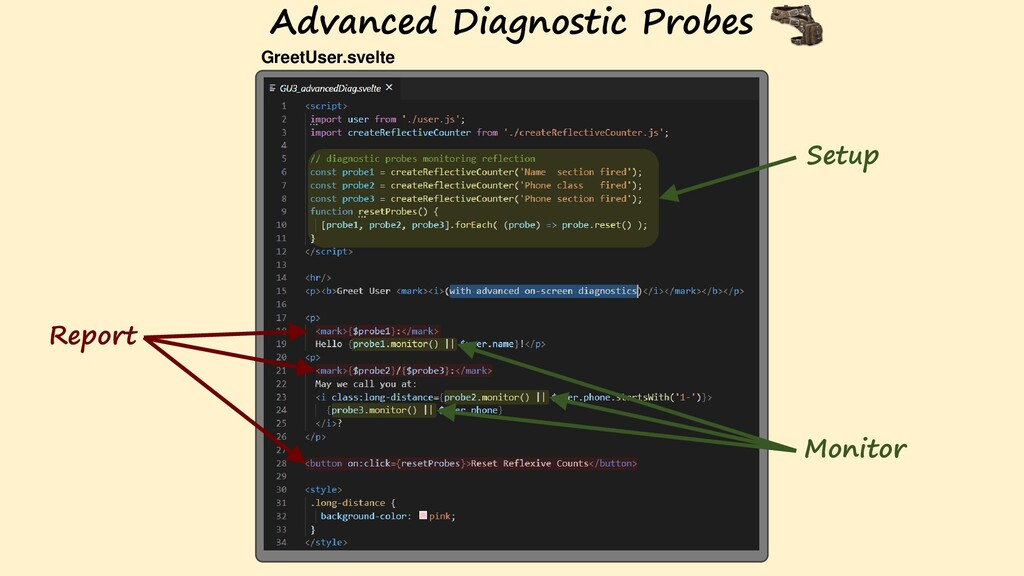 Advanced Diagnostic Probes Monitor Report Setup...