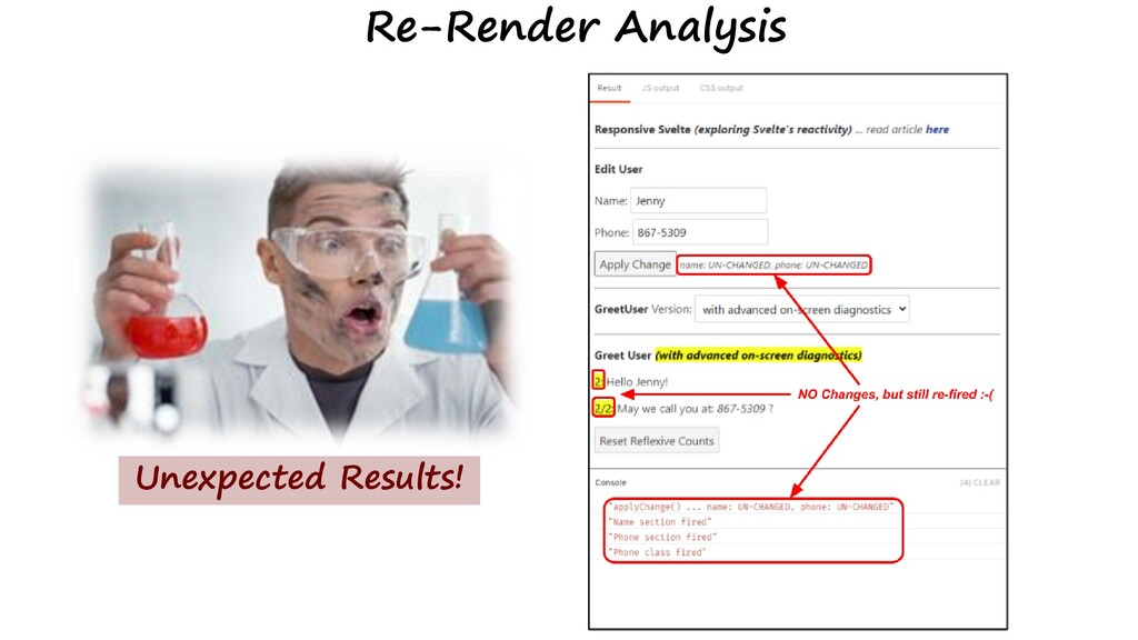 Re-Render Analysis Unexpected Results!
