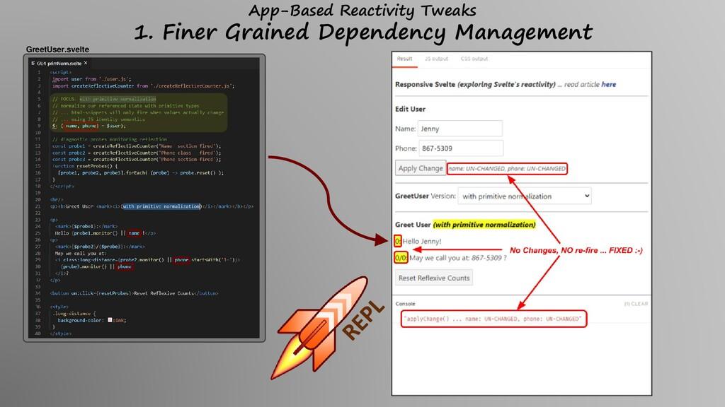 App-Based Reactivity Tweaks 1. Finer Grained De...