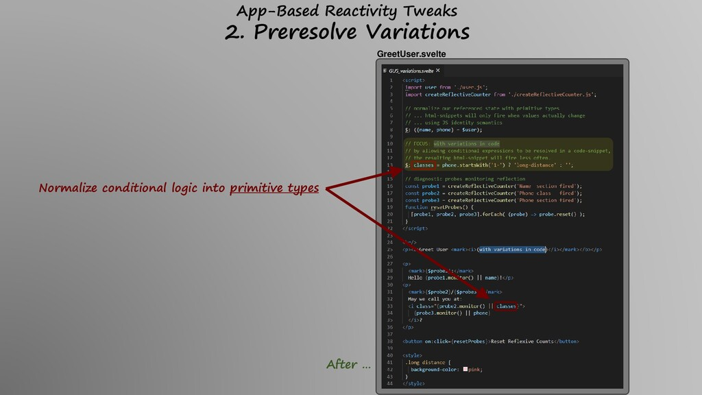 Normalize conditional logic into primitive type...